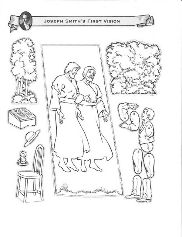 Joseph Smith First Vision At The Hill Cumorah Coloring Page Fhe