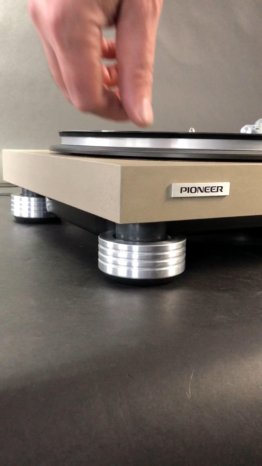 Upgraded Derek's vintage Pioneer PL518 Turntable to Mnpctech Anti-Vibration Isolation Feet Linked below