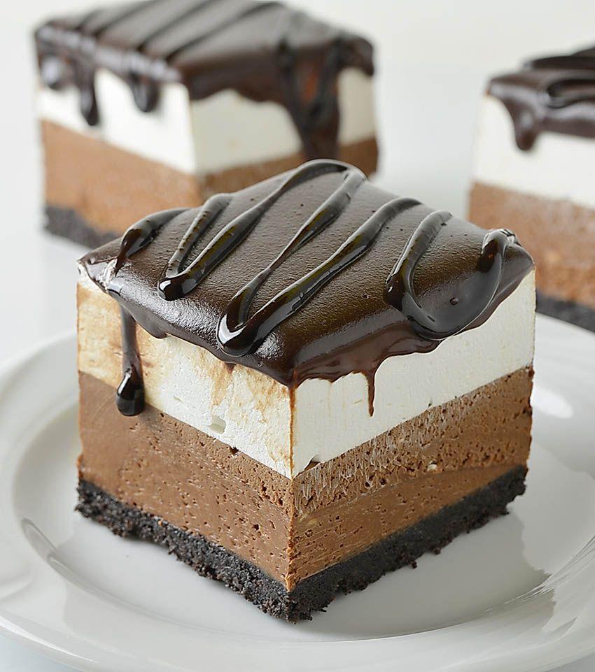 Double Chocolate Cheesecake Bars