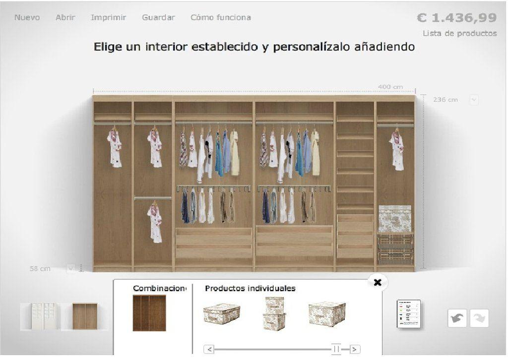 Proyecto de armario empotrado decorar tu casa es - Disena tu armario ikea ...