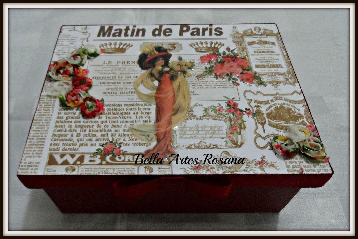 Caixa de costura Dama Flores | Bellas Artes | Elo7