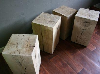 nouveau style 4b4ae a7fba tabouret | For the Home | Cube bois brut, Bois brut et Table ...