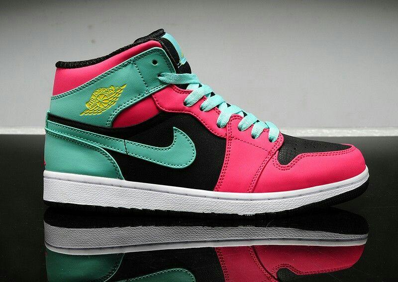 new concept dd014 fc7f1 Air Jordan 1 GS sneaker Green Pink Custom