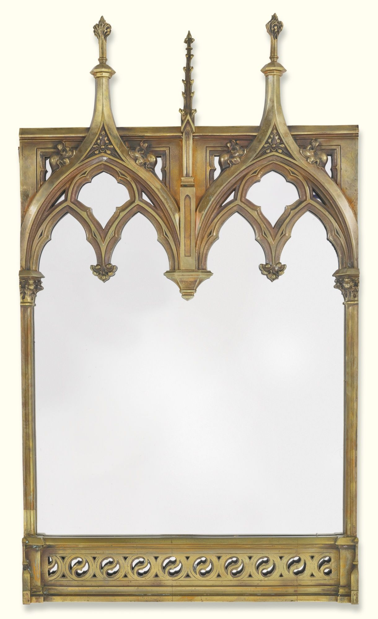 Gothic home furniture together with four hands furniture sale besides - A Victorian Gothic Revival Brass Frame Now Mounted As A Mirror Late 19th Century