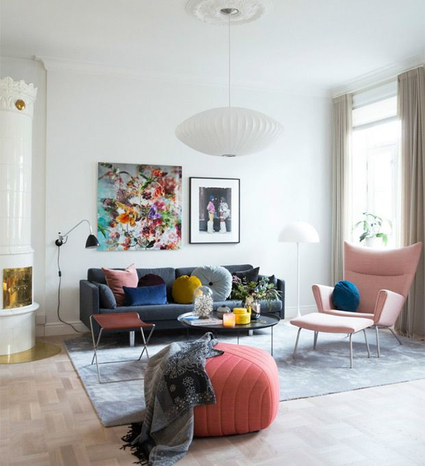 Gorgeous Ways To Incorporate Scandinavian Designs Into: 8 Rooms That Prove Scandi Style Can Be Colorful