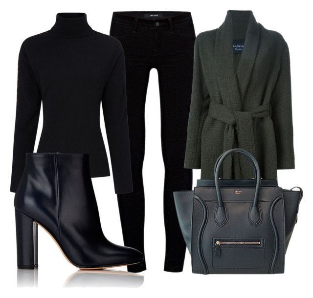 """""""Grand piano"""" by lucieednie ❤ liked on Polyvore featuring J Brand, Lanvin, CÉLINE, Preen and Gianvito Rossi"""