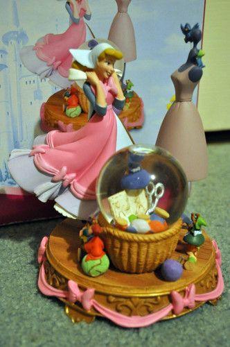 Disney Cinderella Dress Making Scene Snowglobe