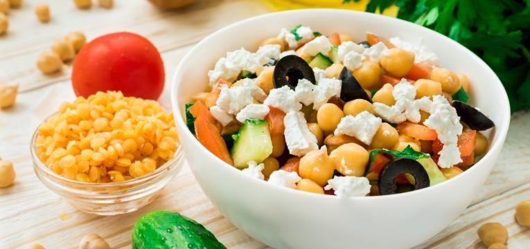 Dieta Srodziemnomorska Przykladowy Jadlospis Dzienny Przepisy Chickpea Salad Summer Salads Chickpea