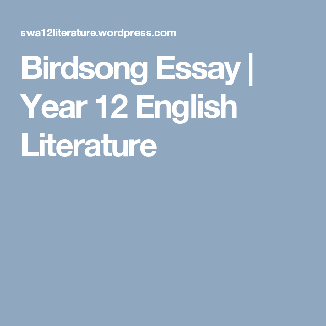 Research paper in english literature