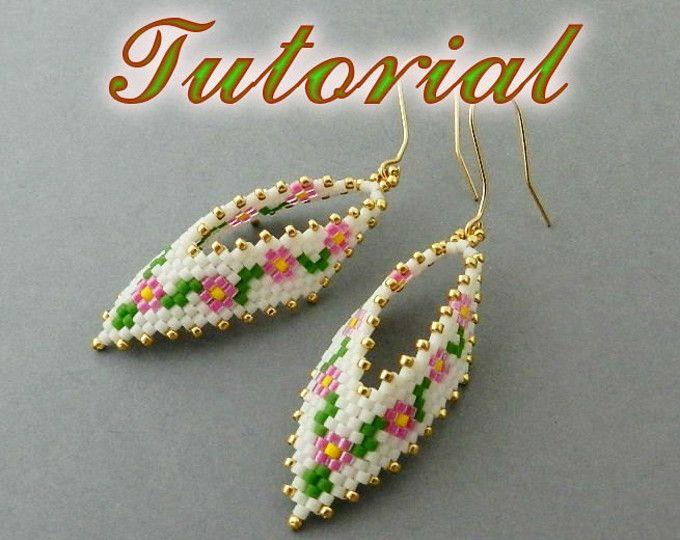 eff9212ea PDF Beaded Earrings Tutorial Russian Leaf Native American | Russian ...