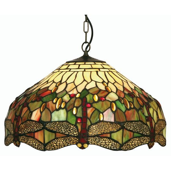 Oaks Tiffany Dragonfly Medium Ceiling Pendant Light by Oaks Lighting.  Discover our ranges of Tiffany