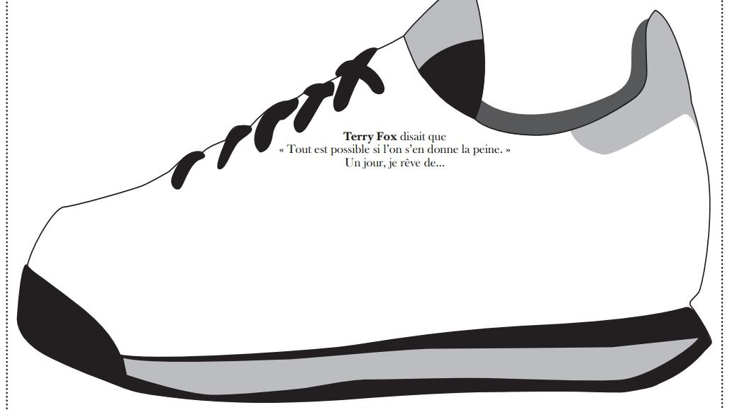 Terry Fox Sneaker Activity French Immersion Activities Fox Shoes