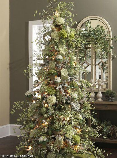 hydrangea christmas tree Creative Ideas Pinterest Navidad