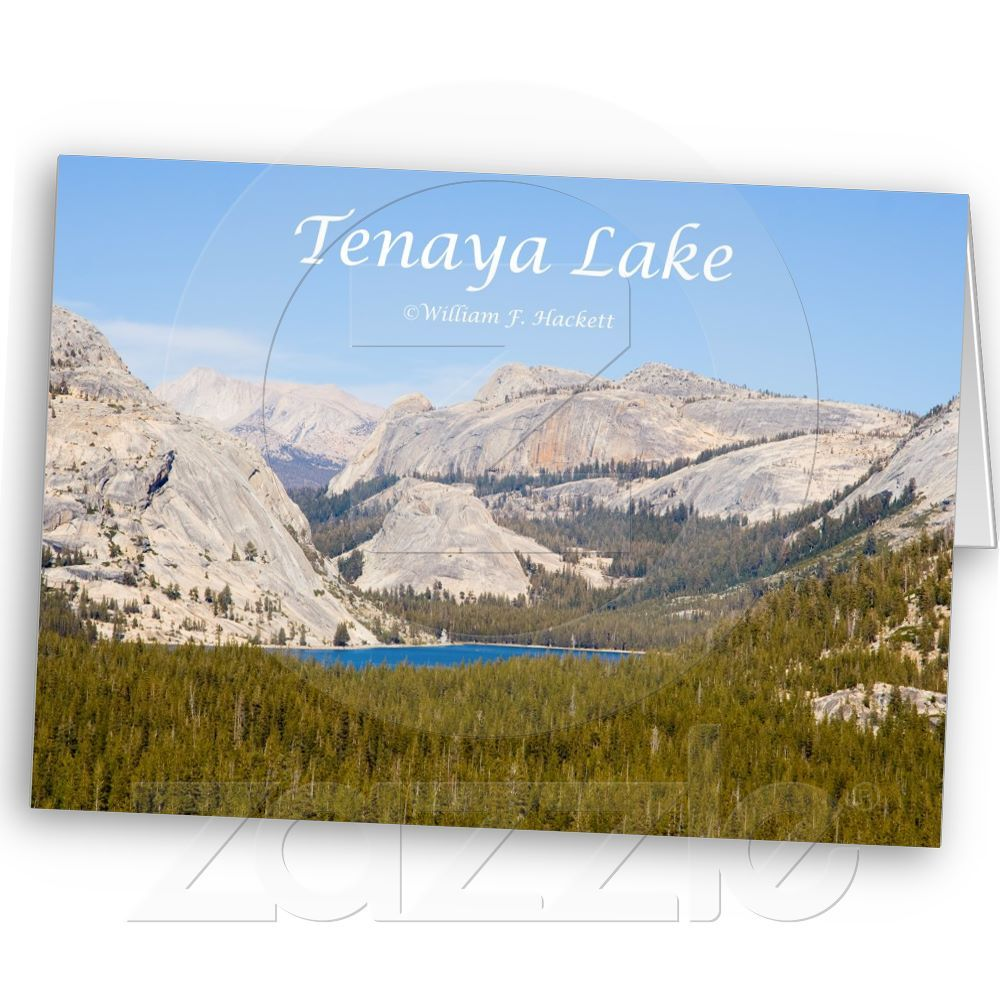 Tenaya Lake Yosemite California Products Greeting Card from the Cheshire Cat Photo Store on Zazzle.com