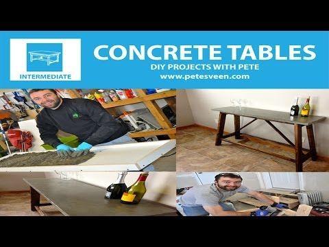 How To Build A Concrete Table Concrete Counter Top Episode 2 Diy Meuble Table Basse Beton Diy