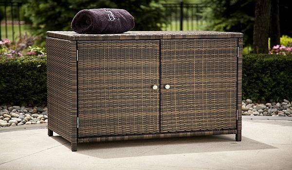 All Weather Wicker Storage Cabinet - - Wicker Outdoor Patio Cabinet For Mom Pinterest Storage