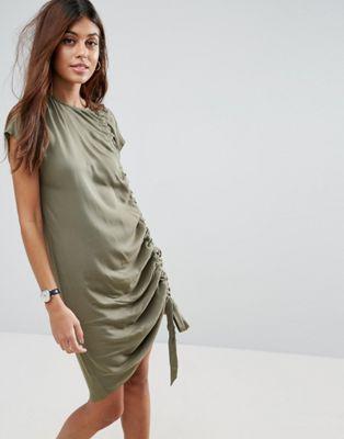 0ca05a79 Sleeveless Ruched Detail T-Shirt mini dress | My work | Vestidos ...