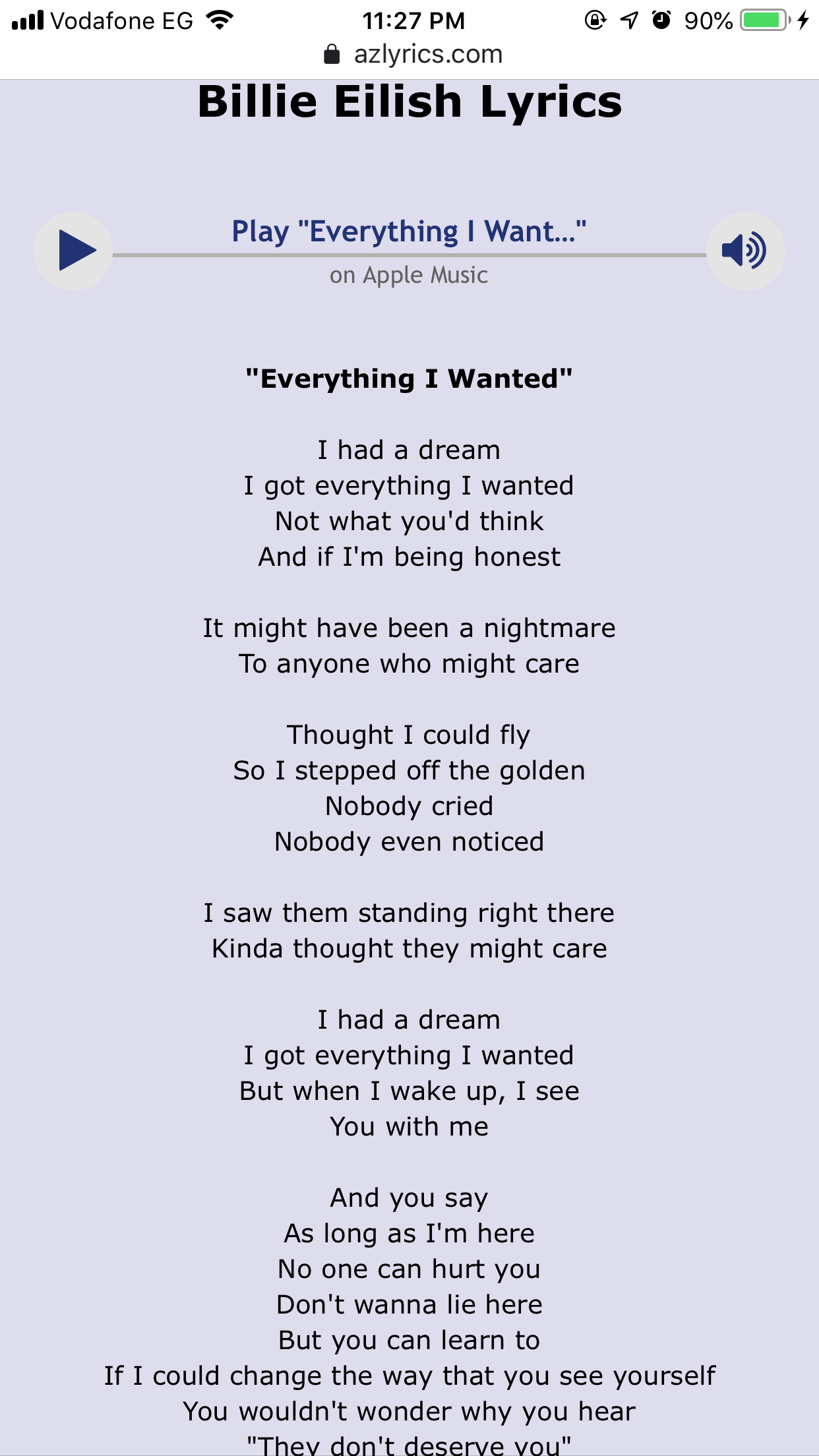 Wanted everything lyrics i