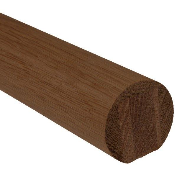Best Dark Hardwood Round Mopstick Handrail Dark Hardwood 400 x 300