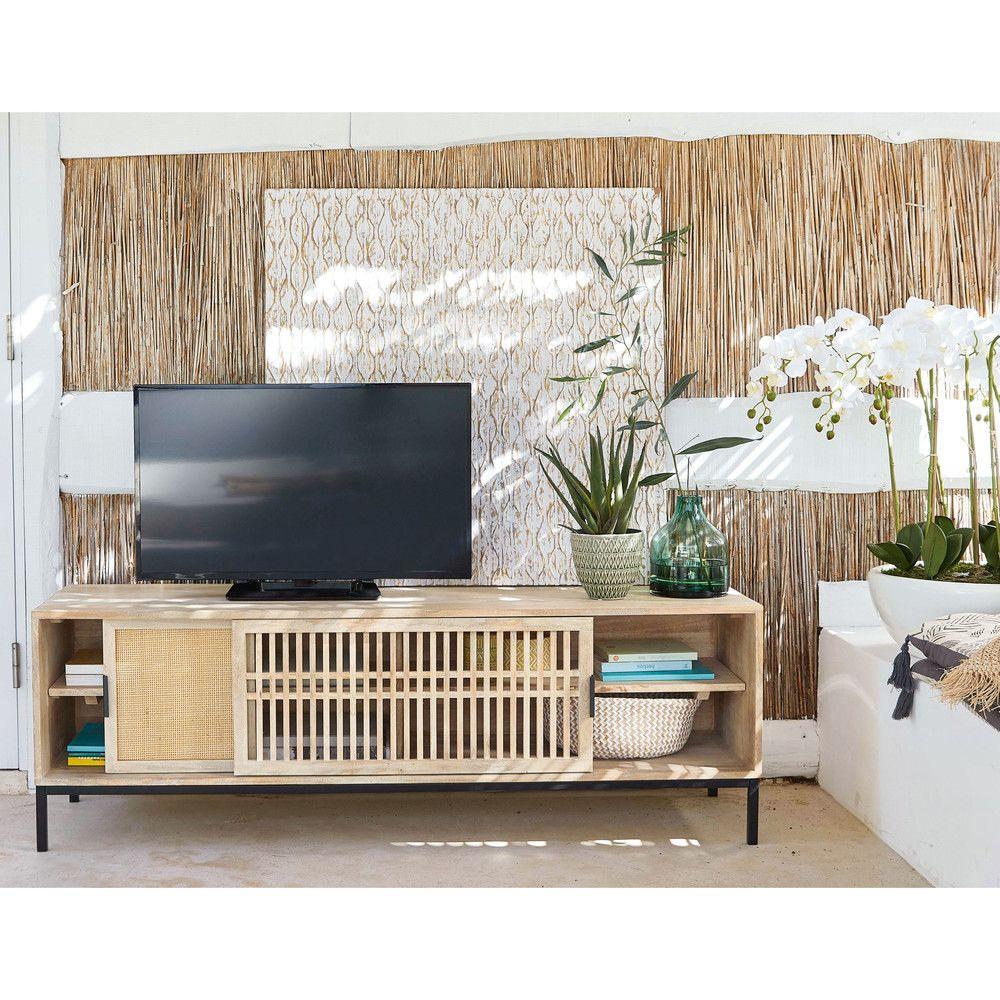 Pannello Scolpito Bianco 92x92 Maisons Du Monde Meuble Tv Maison Du Monde Mobilier De Salon Meuble Tv