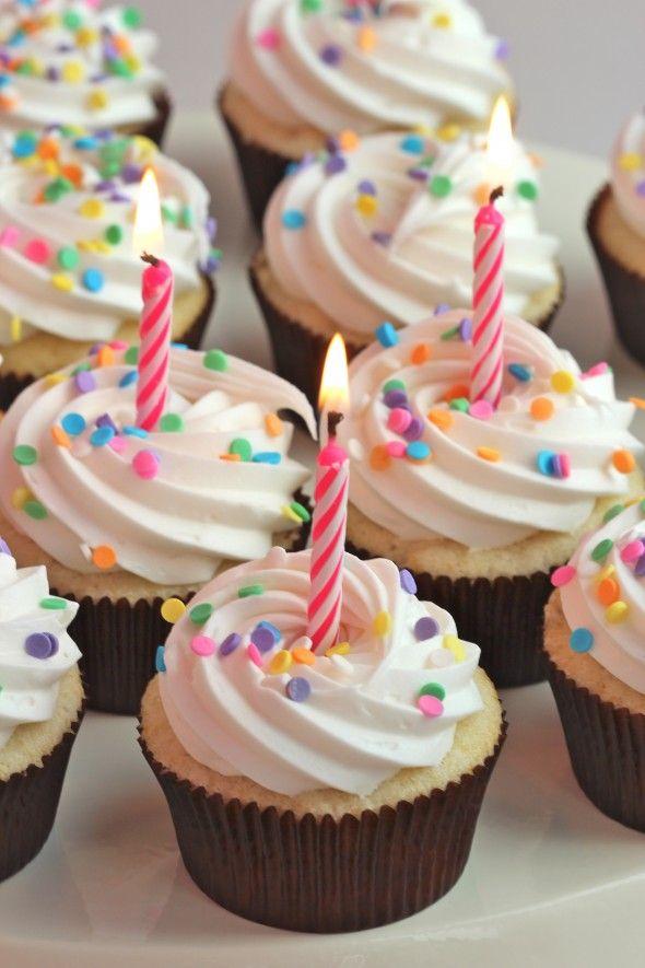 HAPPY BIRTHDAY TANJA Im Sending This Yummy Treat Your Way Via Good Ole Pintrest Vanilla Cupcake With Buttercream Frosting