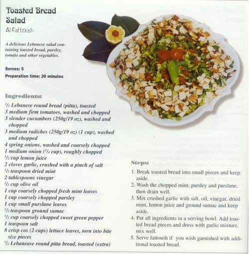Lebanese salad fattoush 500509 taste of lebanon pinterest lebanese salad fattoush 500509 forumfinder Choice Image