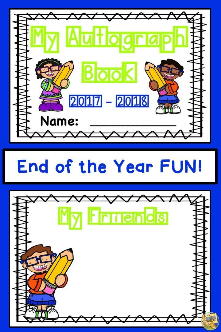 Autograph Book   End Of The Year Activity | Fun Activities, Yearbooks And  Activities
