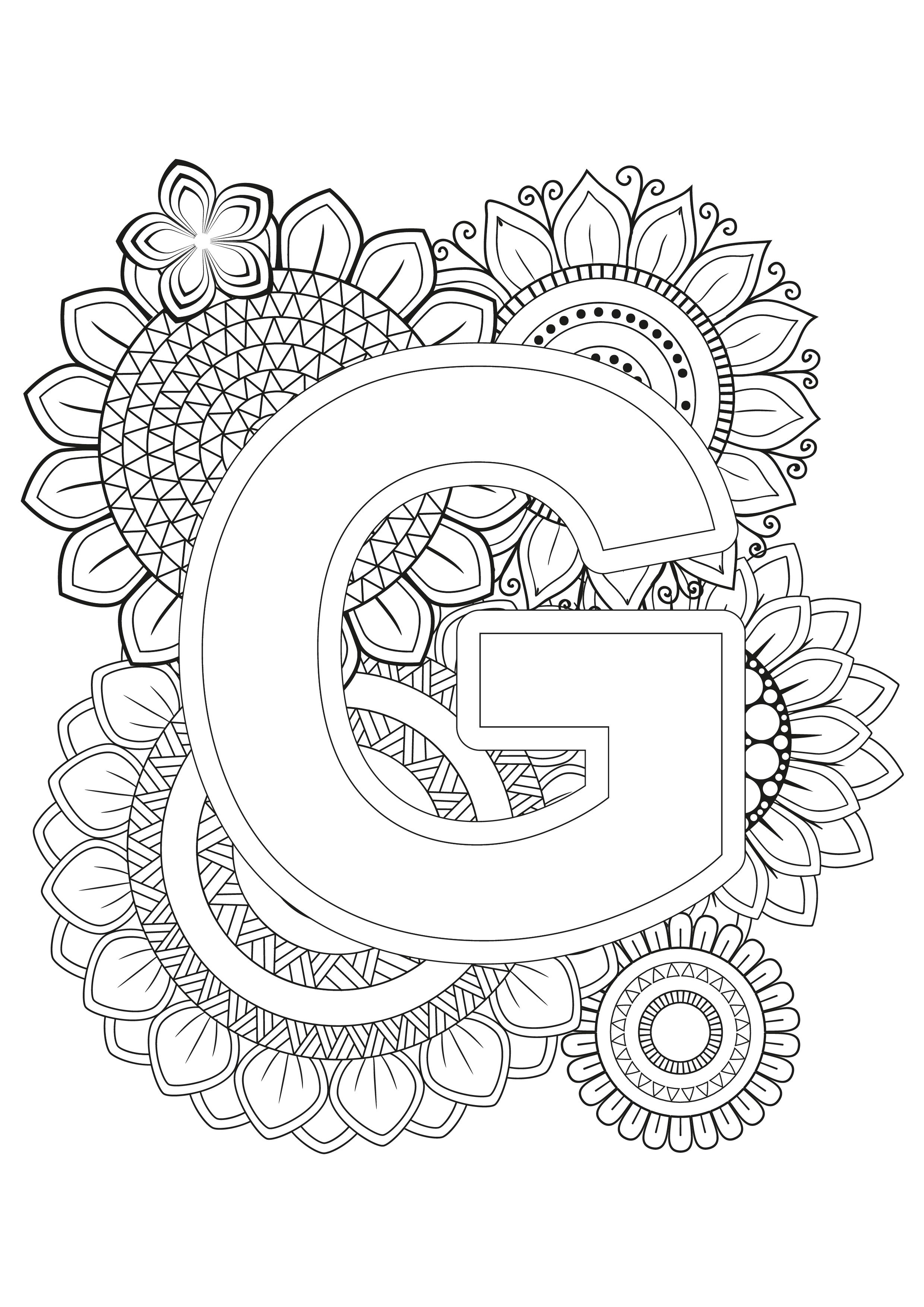 Mindfulness Coloring Page Alphabet Alphabet Coloring Pages Easy Coloring Pages Valentine Coloring Pages