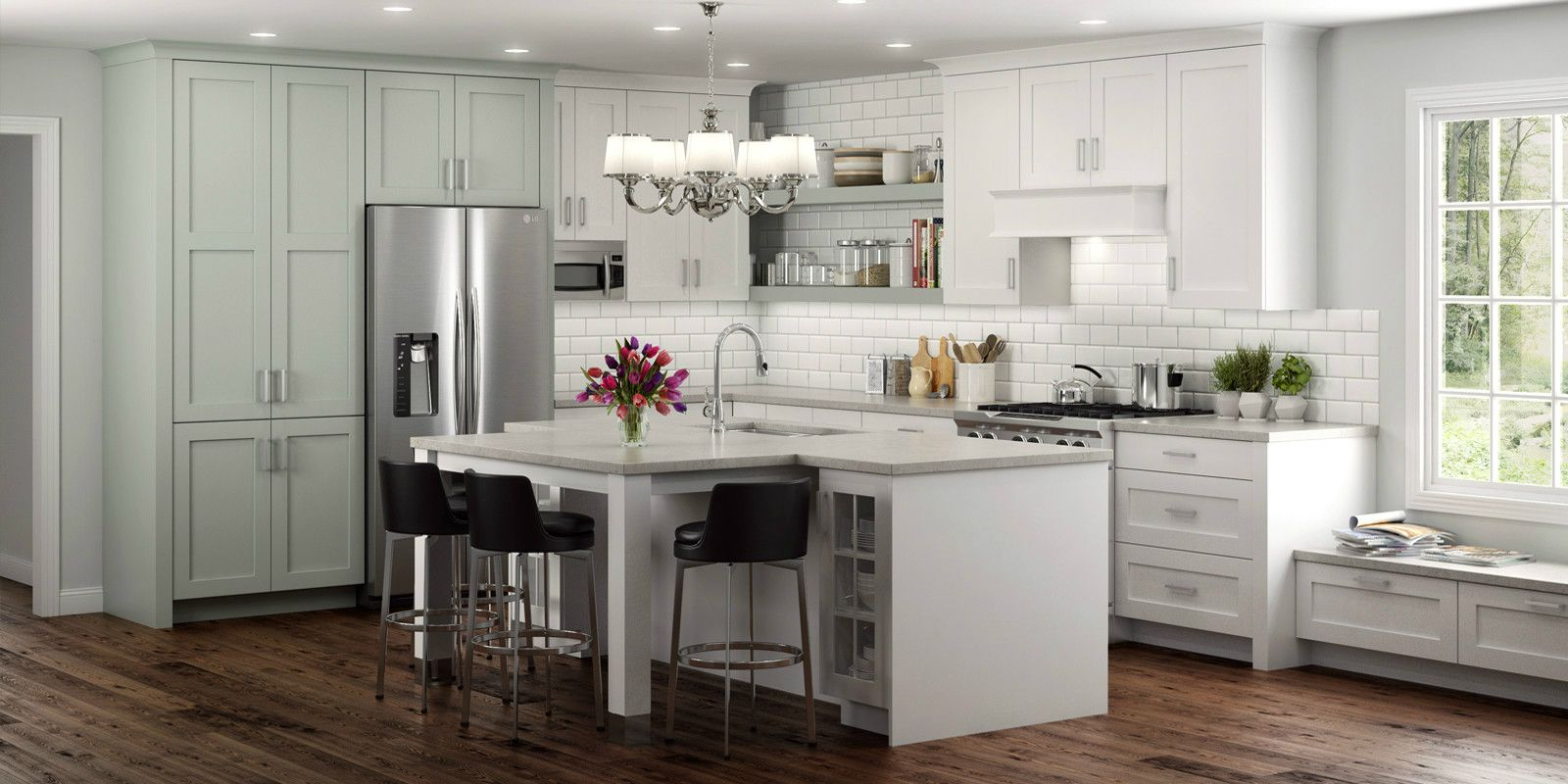 Best Latitude Cabinets At Lowe's Modern Frameless Kitchen And 400 x 300
