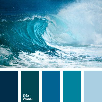 Color scale of blue and sky blue shades with a slight - Blue and purple color scheme ...
