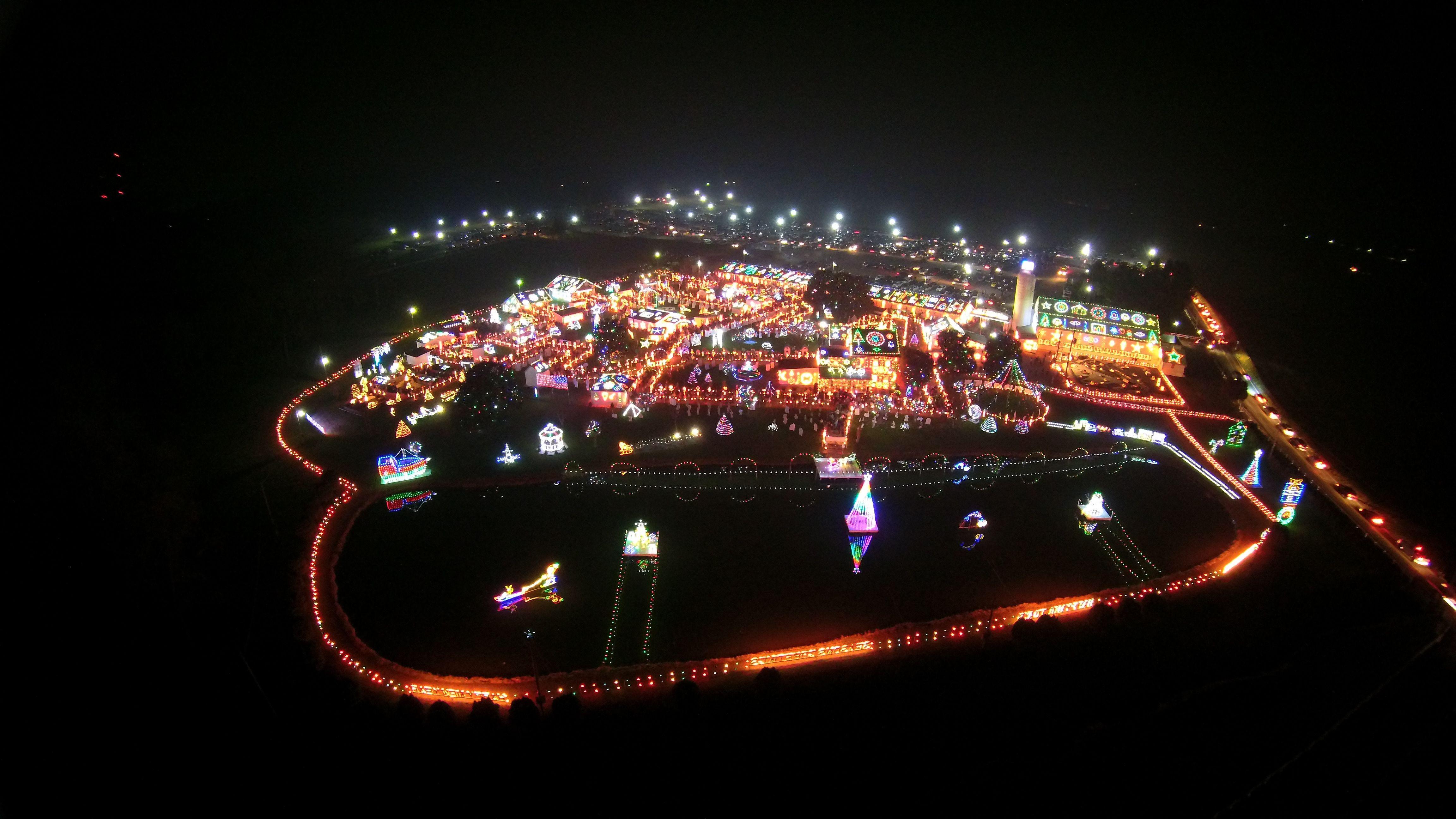 Christmas Village Pa.Christmas Village Bernville Pa Aerial Photography