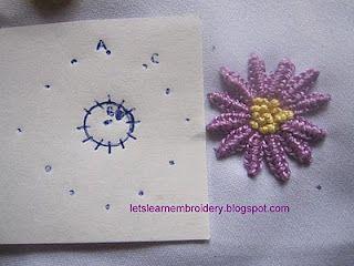 Double cast-on daisy