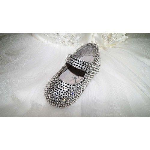Pre order Isabella hand made crystal keepsake shoes with Swarovski crystals