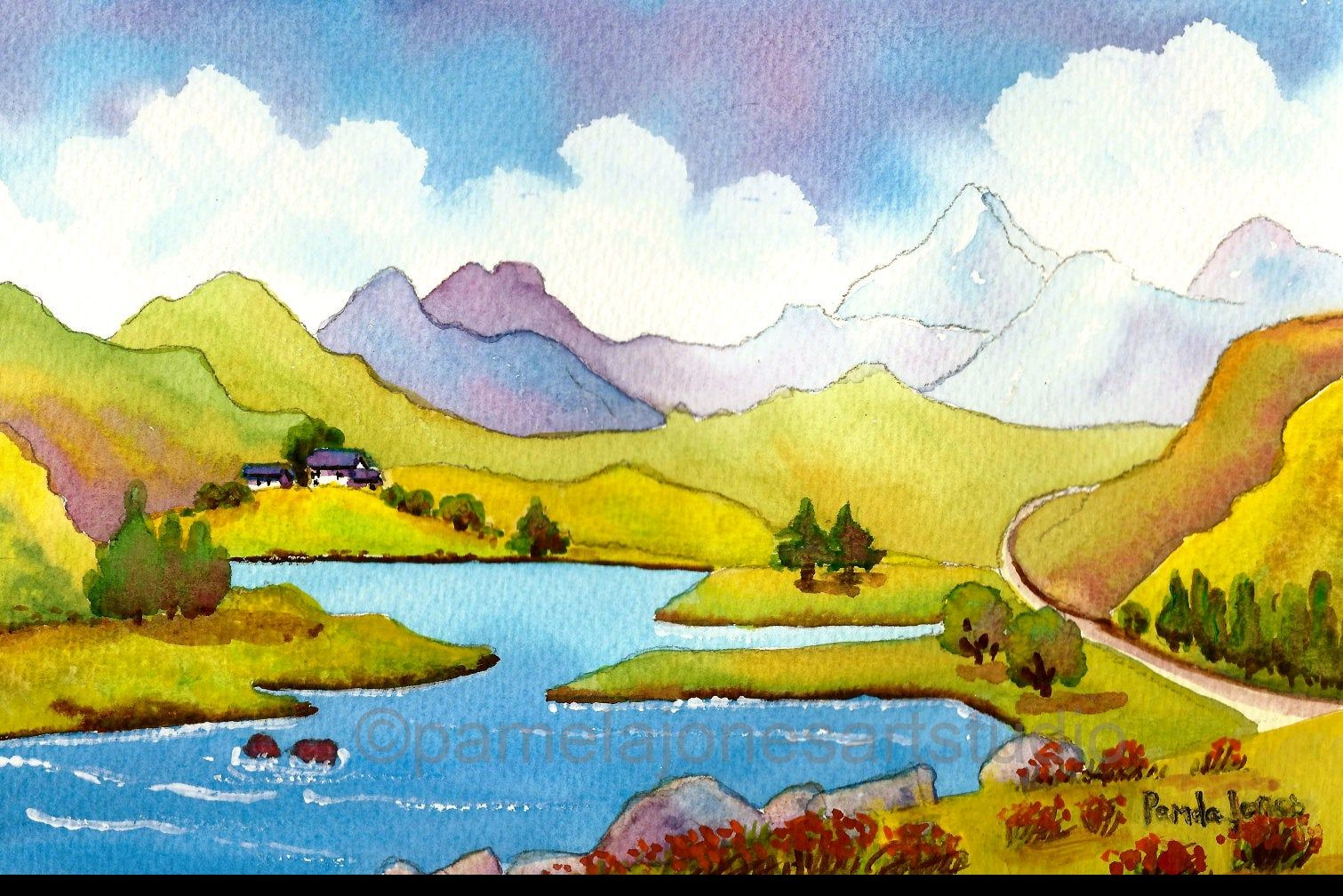 Original Watercolour, Painting, Snowdon, North Wales, Landscape Painting, 14 x 11ins, Gift Idea, Art and Collectibles, Home Decor #northwales