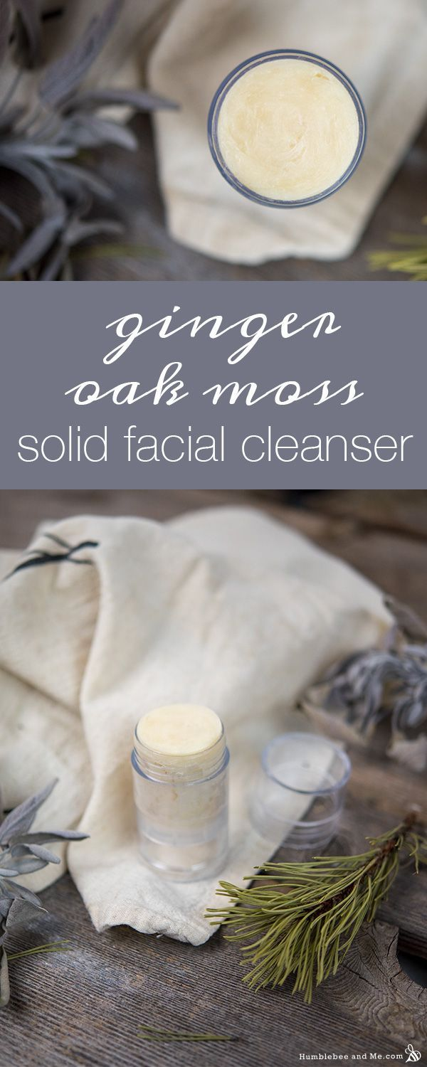 Ginger Oak Moss Solid Facial Cleanser Humblebee & Me in