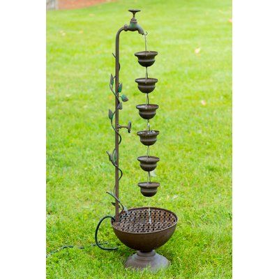 Smart Solar Ceramic Cascade Fountain Wayfair