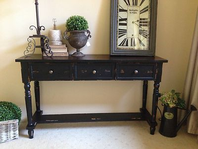 New Black Brown Timber Console Hall Table Sideboard Country French Provincial Ebay Hall Table Revamp Furniture Hallway Decorating