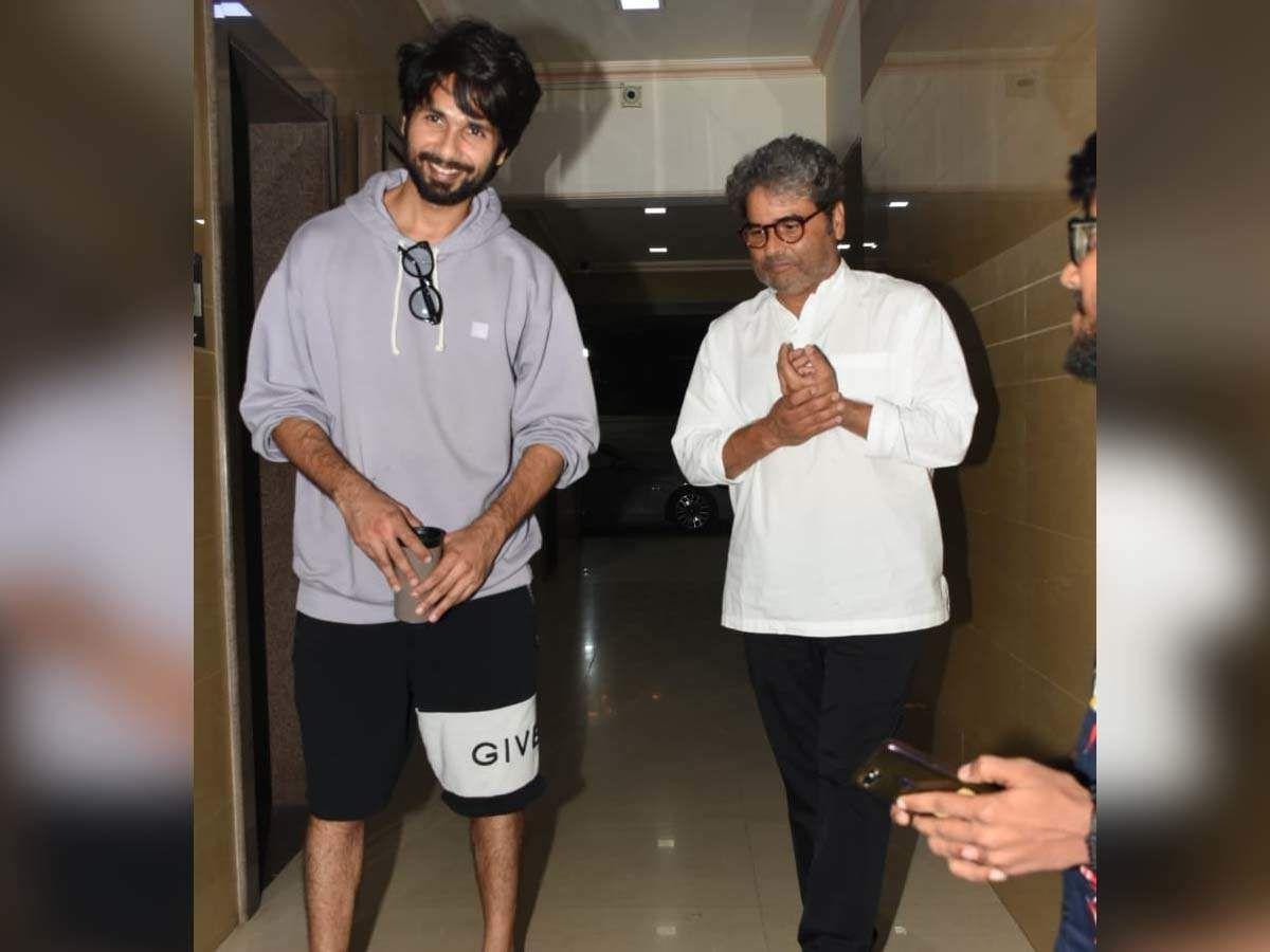 Photos Shahid Kapoor meets Vishal Bhardwajindia