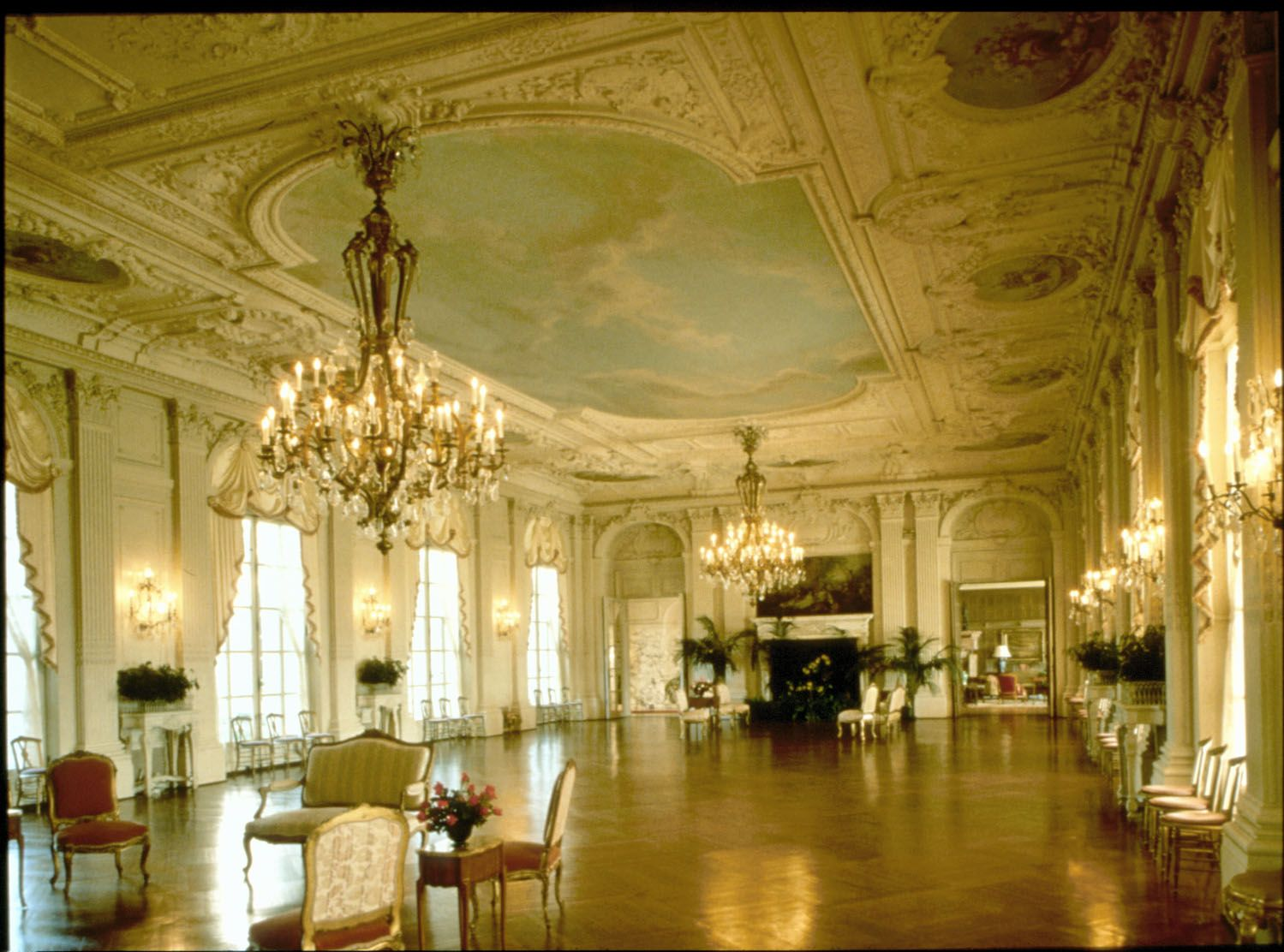The grand ballroom at rosecliff mansion