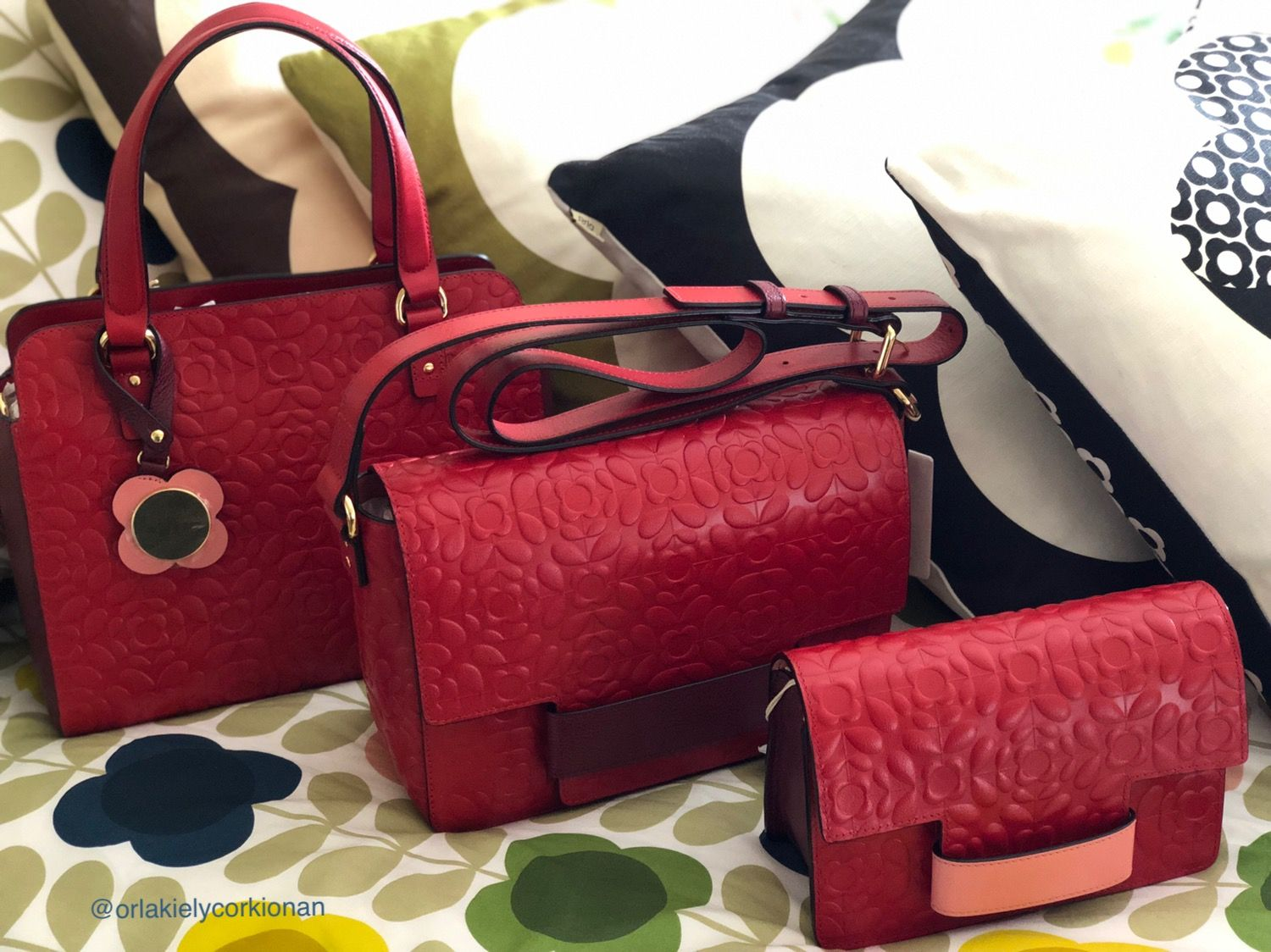 1d7ab474a0 Orla Kiely Lipstick Red Jeanette, Rosemary & Sweet Pea bag #orlakiely  #orlakielybag #