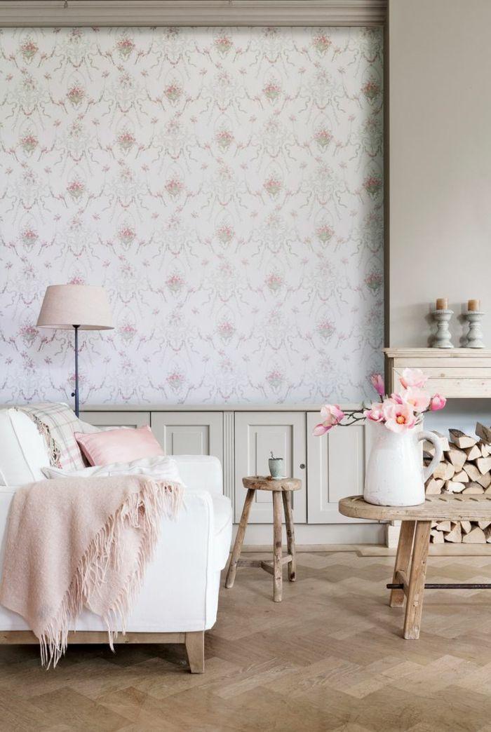 gemütliches-Wohnzimmer-romantische-Ausstattung-rosa-Akzente
