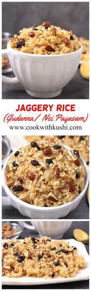 #Dessert #flavorful #GUDANNA #JAGGERY #prepa #Rice #rich ...