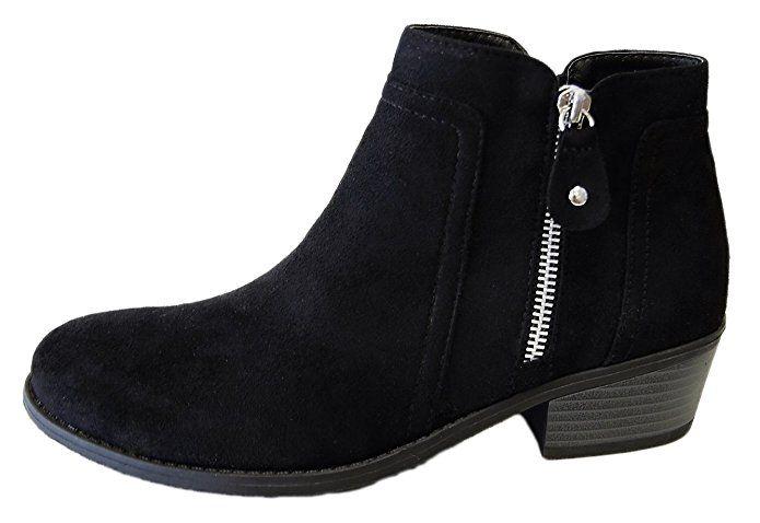 fe0f791c7b884 Amazon.com | Refresh Women's Tildon-06 Suede Low Heel Ankle Bootie ...