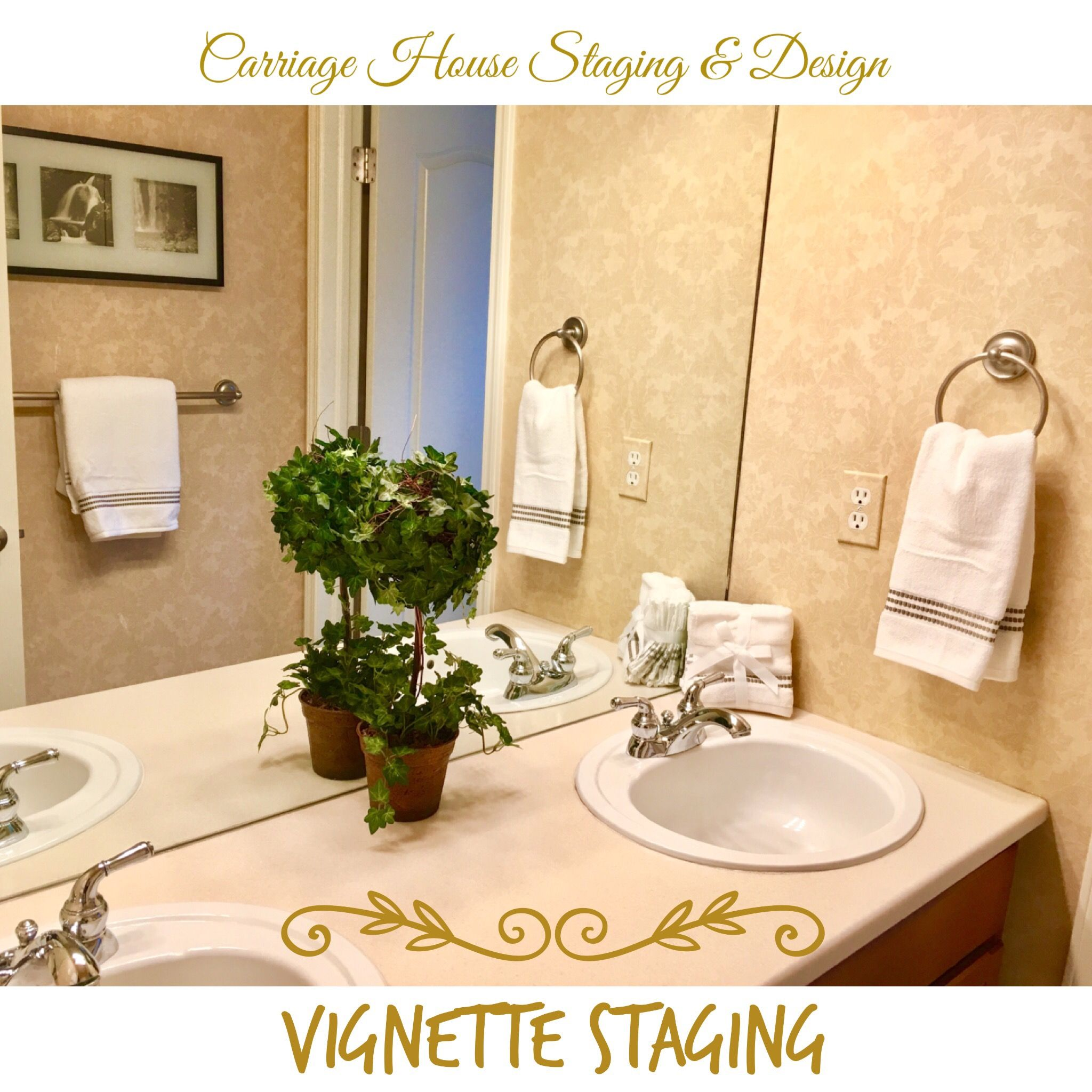 Vignette Staging of a Guest Bathroom | Home staging ...