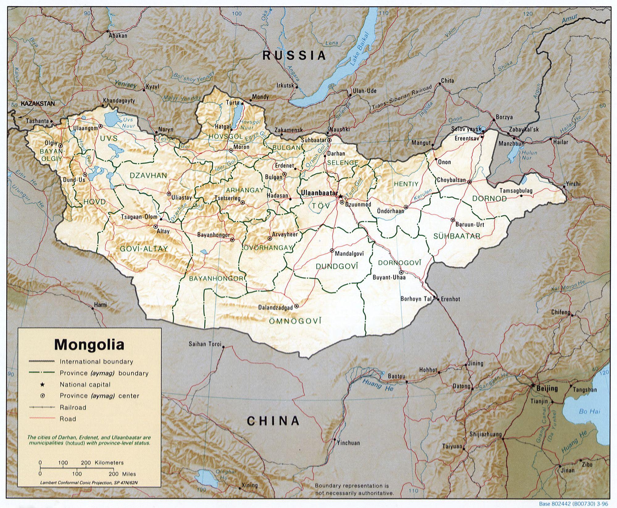 Map Of Asia Gobi Desert.The Southern Portion Of Mongolia Is Taken Up By The Gobi Desert