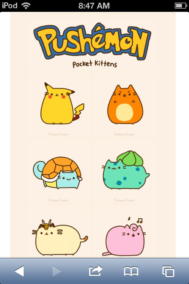 Pokemon Pusheen Pusheen Cat Pusheen Cute Pokemon Pikachu