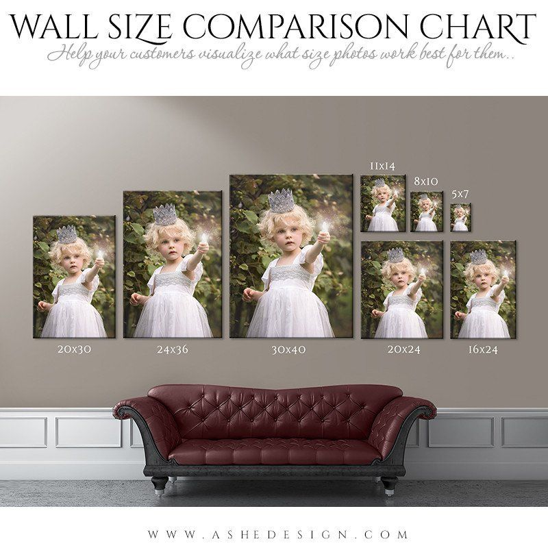 Wall Display Guides Size Comparison Chart Portrait Wall Display Portrait Wall Photo Print Sizes