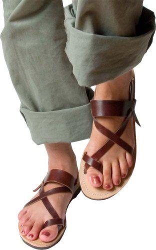 Amazon.com  Mediterranean Style Mens Greek Leather Sandals  Shoes ... 6cdca11bc84c