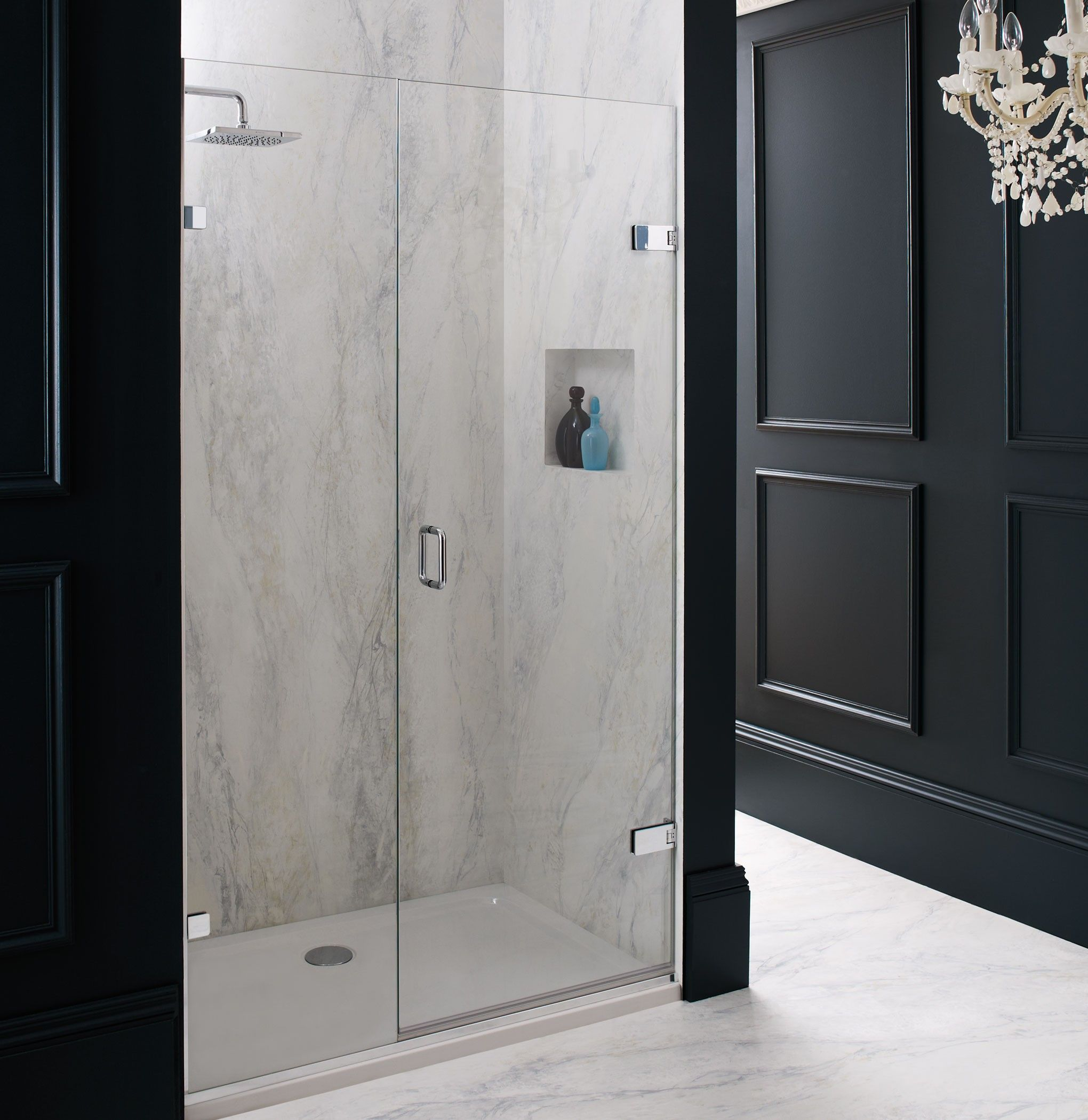 Merlyn 8 series sliding door amp inline panel - Majestic Rio Shower Screen