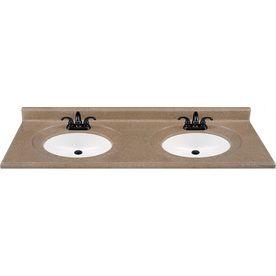 278 00 Style Selections 61 In W X 22 In D Kona Kona Double Sink